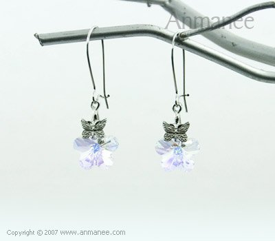 Handcrafted Swarovski Crystal Earrings 01036