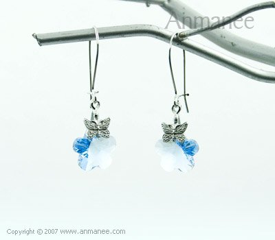 Handcrafted Swarovski Crystal Earrings 01037