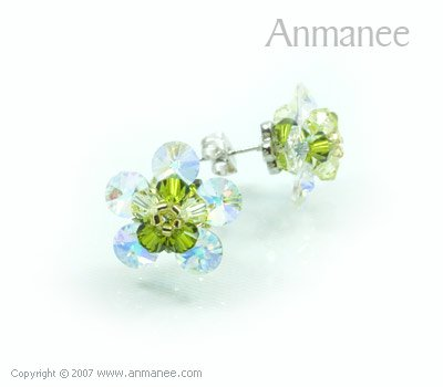 Handcrafted Swarovski Crystal Earrings 010316