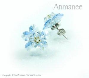 Handcrafted Swarovski Crystal Earrings 010321