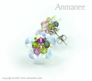 Handcrafted Swarovski Crystal Earrings 010322