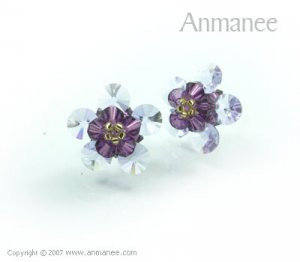 Handcrafted Swarovski Crystal Earrings 010324