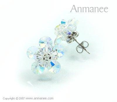 Handcrafted Swarovski Crystal Earrings 010325
