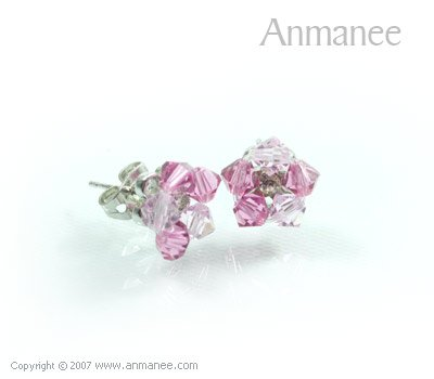 Handcrafted Swarovski Crystal Earrings 010326