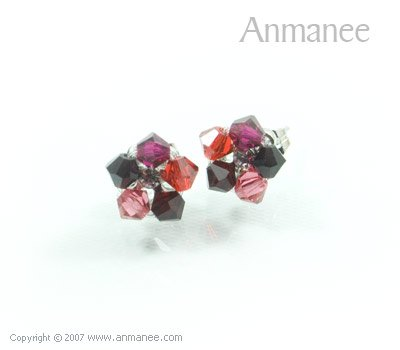 Handcrafted Swarovski Crystal Earrings 010327