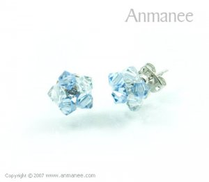 Handcrafted Swarovski Crystal Earrings 010330