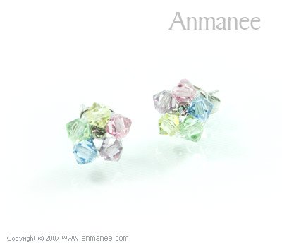 Handcrafted Swarovski Crystal Earrings 010331