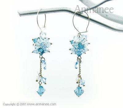 Handcrafted Swarovski Crystal Earrings 010312