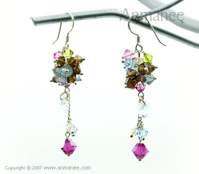 Handcrafted Swarovski Crystal Earrings 010313
