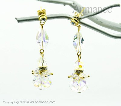 Handcrafted Swarovski Crystal Earrings 010311
