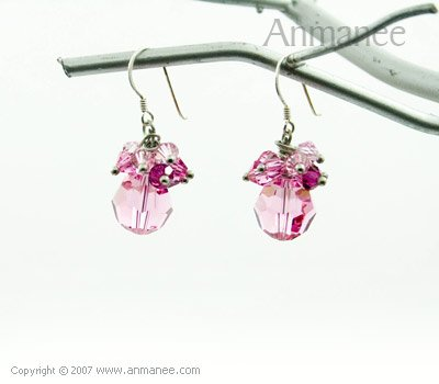 Handcrafted Swarovski Crystal Earrings 010310