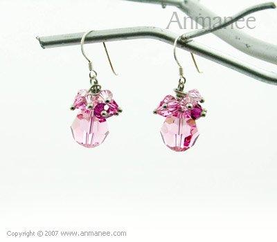 Handcrafted Swarovski Crystal Earrings 010310