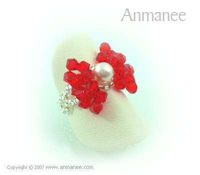 Handcrafted Swarovski Crystal - Ring Bow 010418