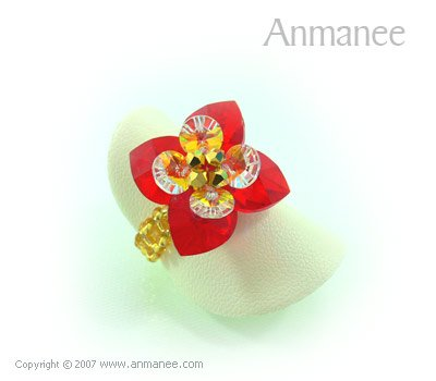 Handcrafted Swarovski Crystal Ring - Pikul 010451