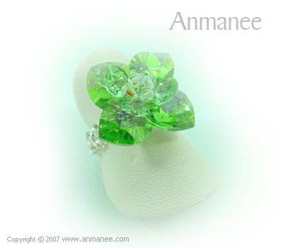 Handcrafted Swarovski Crystal Ring - Pikul 010455
