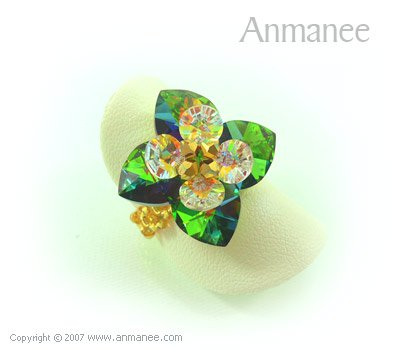 Handcrafted Swarovski Crystal Ring - Pikul 010458