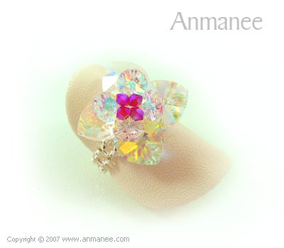 Handcrafted Swarovski Crystal Ring - Pikul 010461