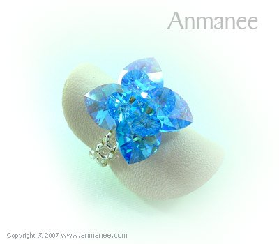 Handcrafted Swarovski Crystal Ring - Pikul 010462