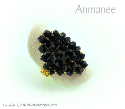 Handcrafted Swarovski Crystal Ring - Diamond 010433