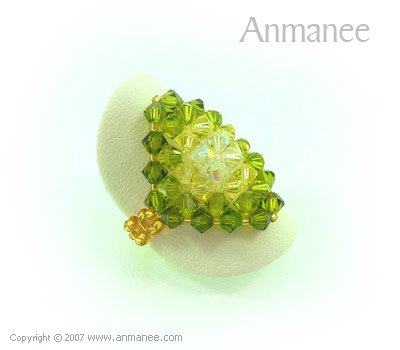 Handcrafted Swarovski Crystal Ring - Diamond 010434