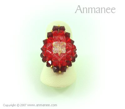 Handcrafted Swarovski Crystal Ring - Diamond 010436