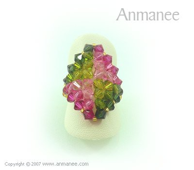 Handcrafted Swarovski Crystal Ring - Diamond 010439