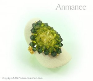 Handcrafted Swarovski Crystal Ring - Diamond 010440