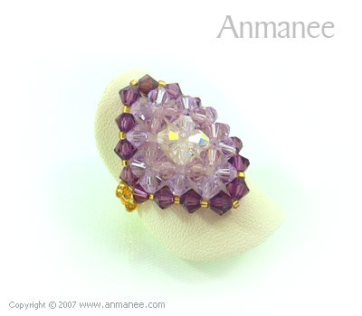 Handcrafted Swarovski Crystal Ring - Diamond 010441