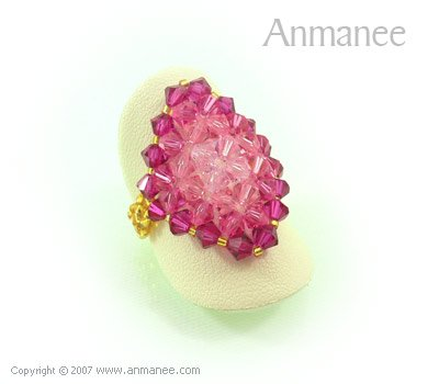 Handcrafted Swarovski Crystal Ring - Diamond 010443