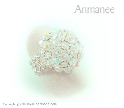 Handcrafted Swarovski Crystal Ring - High Grace 010446