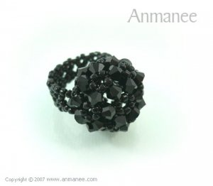 Handcrafted Swarovski Crystal Ring - High Grace 010448