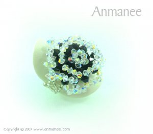 Handcrafted Swarovski Crystal Ring - Rose 010466