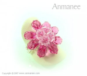 Handcrafted Swarovski Crystal Ring - Bloom 01042