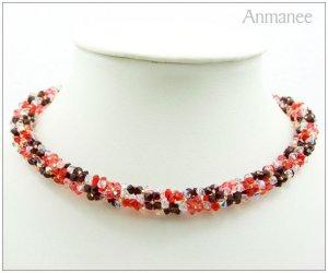 Handcrafted Swarovski Crystal Necklace - Twist-L 01011