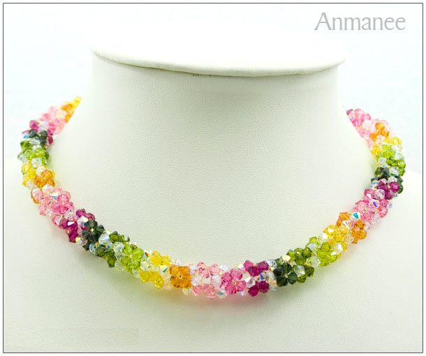Handcrafted Swarovski Crystal Necklace - Twist-L 01013