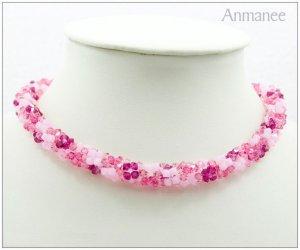 Handcrafted Swarovski Crystal Necklace - Twist-L 01014