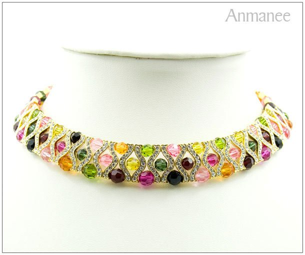 Handcrafted Swarovski Crystal Necklace The Queen 01017