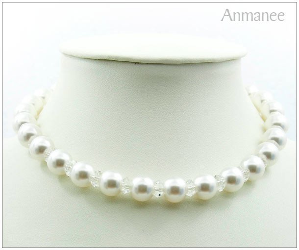 Handcrafted Swarovski Pearl Necklace 02011