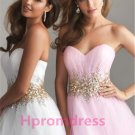 2014 strapless beads prom dress formal cocktail dress long evening dress