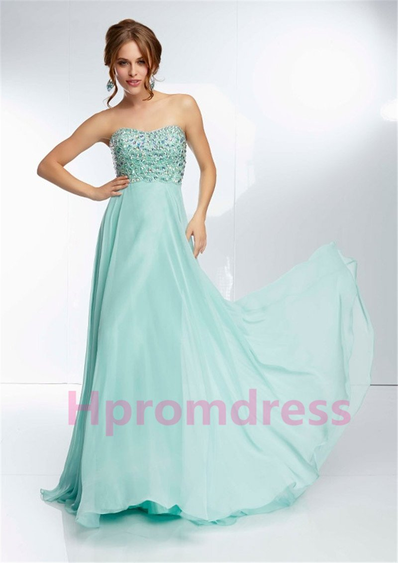2015 New sexy light sky blue evening dress sexy bridal dress long prom dress