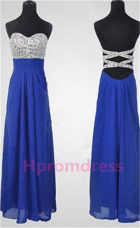 2015 New blue beads prom dress long evening dress sexy bridal dress long prom dress