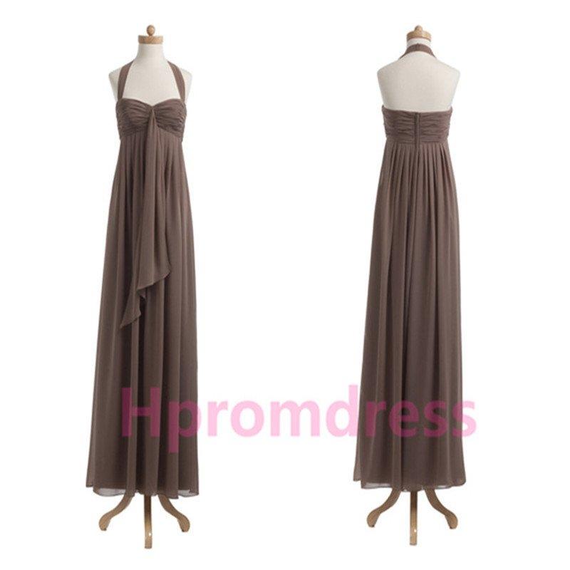 2015 New long evening dress sexy chiffon prom dress Bridesmaid dresses