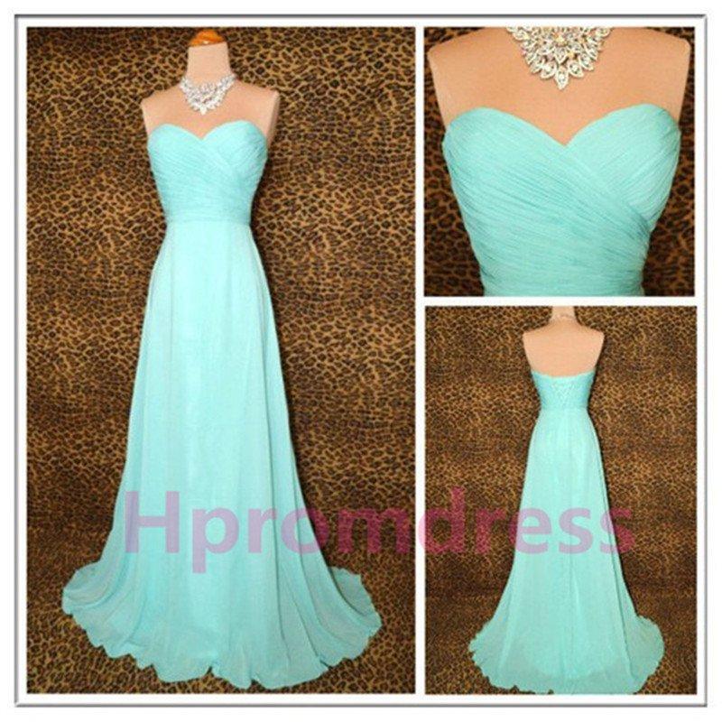 2015 New elegant strapless prom dress light sky blue long Bridesmaid dresses