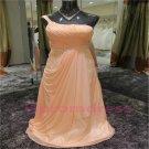 2015 New elegant one-shoulder chiffon evening dress long proms cocktail dresses