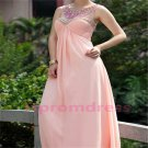 2015 New pink o-neck fromal prom dress custom size bridesmaid dress