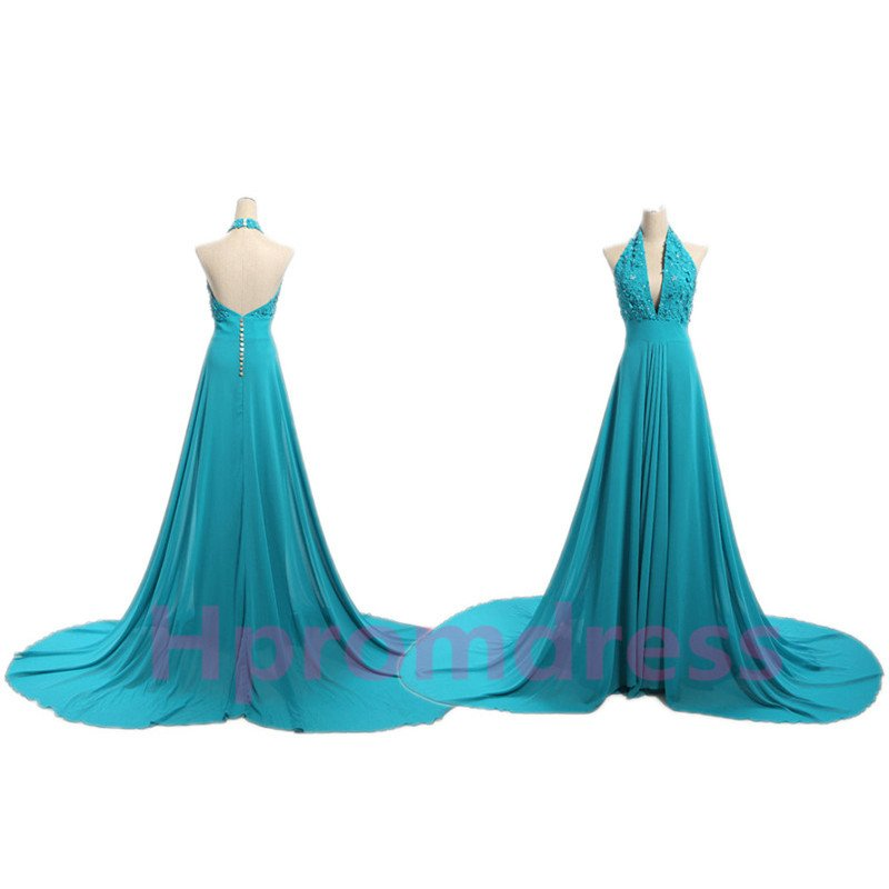 New sexy evening dress custom size color court train evening party dress