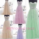 2015 New strapless party dress long formal bridesmaid dress