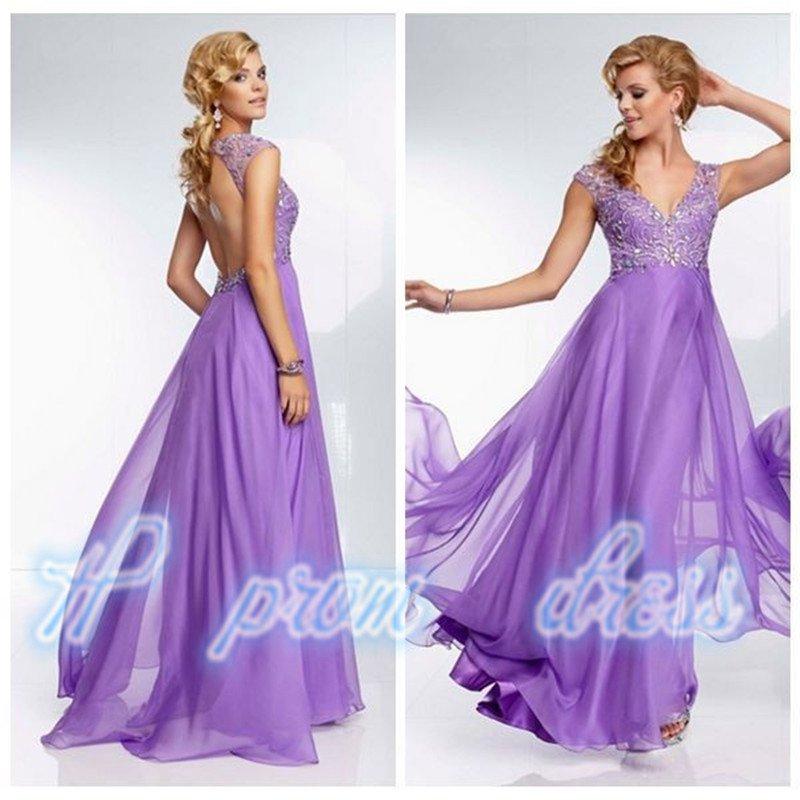 New  V-neck Beading Backless Sleeveless Long Prom Dresses