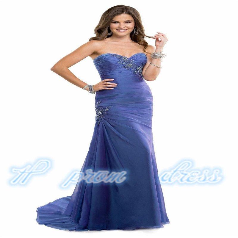 Sweetheart Backless Mermaid Long Evening Dresses Women Formal Prom Dresses