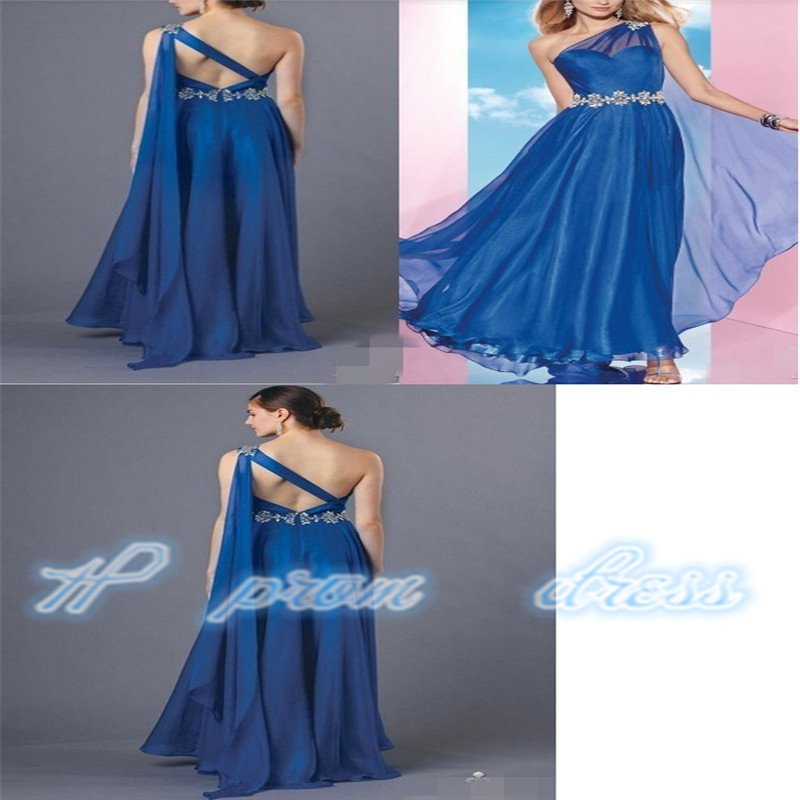 Blue Color 2015 New Girls Flower Sexy Backless Off Shoulder Gowns Dress Gown Prom